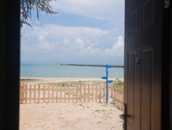 沙滩房子简笔画