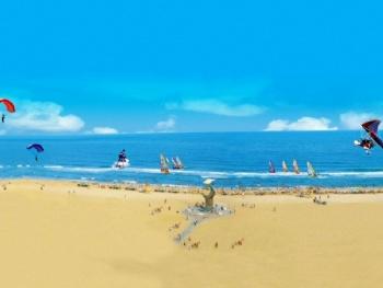 大角湾是中国aaaa级著名的旅游景点,位于广东省阳江市海陵岛闸坡镇