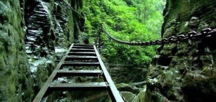 旅游景点 湘西旅游景点 坐龙峡风景区