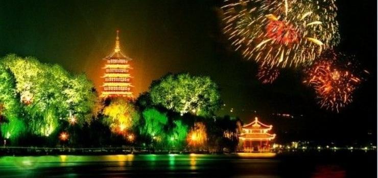 锦州古塔公园秋景